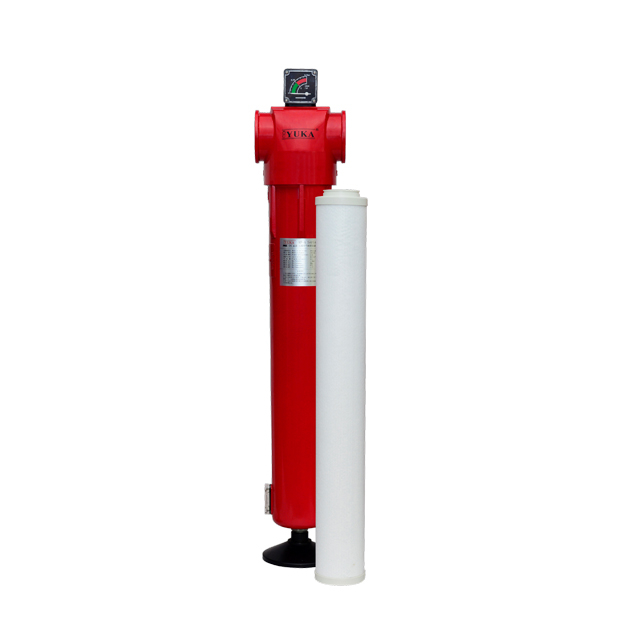 "With CE YF160 RC 4"" Flow Rate 48m³/min 0.01μm Filtration Pipeline Compressed Air Filter"